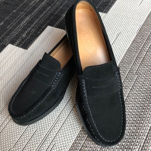 Tod's Black Suede Loafer EUC 37